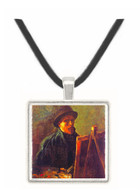 Self-Portrait with Dark Felt Hat at the Easel -  Museum Exhibit Pendant - Museum Company Photo