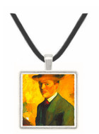 Self-Portrait with Hat by Macke -  Museum Exhibit Pendant - Museum Company Photo