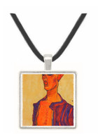 Self-Portrait, a grimace scissoring by Egon Schiele -  Museum Exhibit Pendant - Museum Company Photo