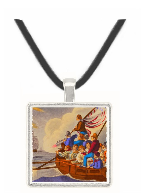 Shooting the Harpoon at a Whale - J.H. Clark -  Museum Exhibit Pendant - Museum Company Photo