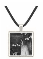 Singer by Seurat -  Museum Exhibit Pendant - Museum Company Photo