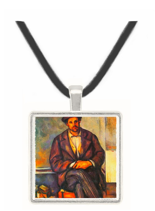 Sitting Farmer by Cezanne -  Museum Exhibit Pendant - Museum Company Photo