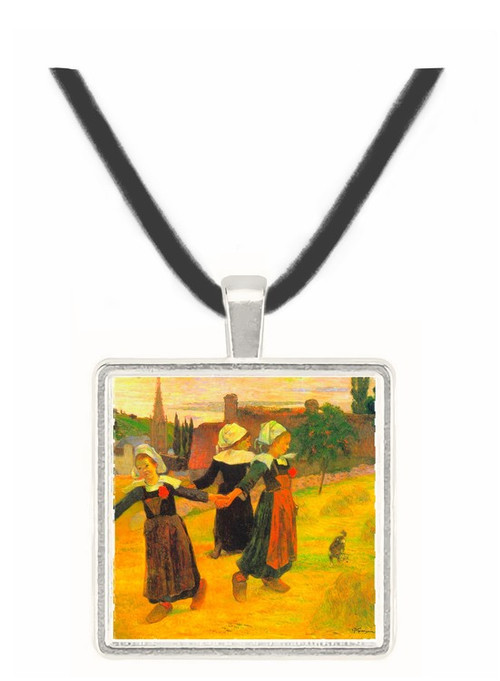 Small Breton Women by Gauguin -  Museum Exhibit Pendant - Museum Company Photo