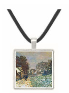 Snow at Argenteuil by Monet -  Museum Exhibit Pendant - Museum Company Photo