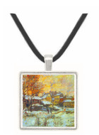 Snow at sunset, Argenteuil in the snow by Monet -  Museum Exhibit Pendant - Museum Company Photo