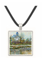 Snow in Vetheuil by Monet -  Museum Exhibit Pendant - Museum Company Photo
