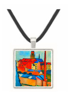 St. Mary's Church with houses and chimney by Macke -  Museum Exhibit Pendant - Museum Company Photo