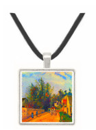 Stagecoach after Ennery by Pissarro -  Museum Exhibit Pendant - Museum Company Photo