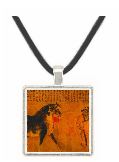 Stallion with Groom - unknown artist -  Museum Exhibit Pendant - Museum Company Photo