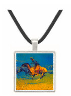 Stampeded by Lightning - Frederic Remington -  Museum Exhibit Pendant - Museum Company Photo
