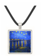 Starry Night Over the Rhone by Van Gogh -  Museum Exhibit Pendant - Museum Company Photo
