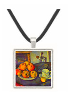 Still life with a bottle and apple cart by Cezanne -  Museum Exhibit Pendant - Museum Company Photo