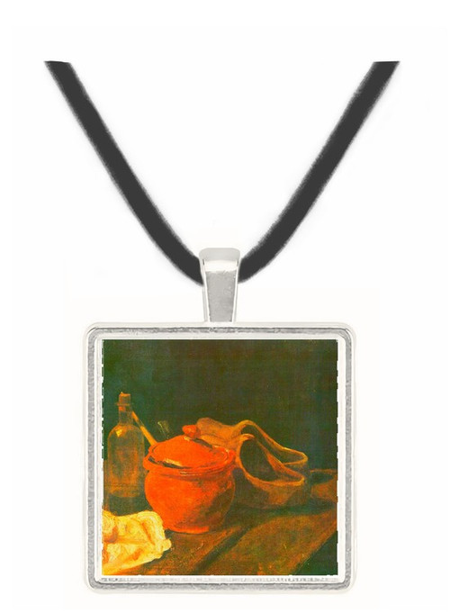 Still life with clay, wood and bottle by Van Gogh -  Museum Exhibit Pendant - Museum Company Photo