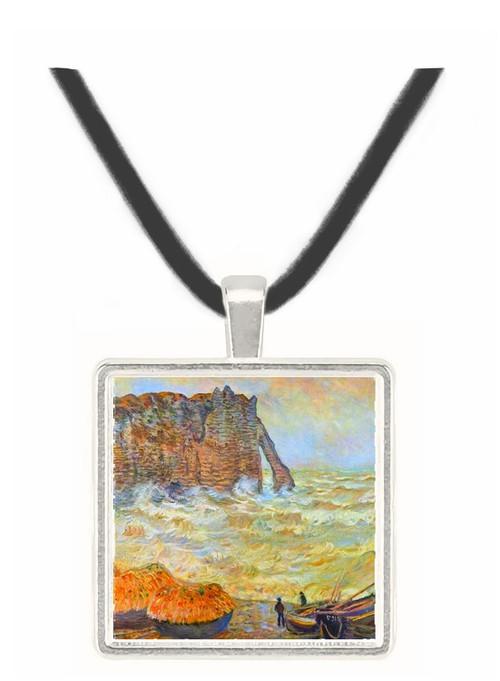 Stormy Sea (La Porte d'Aval) by Monet -  Museum Exhibit Pendant - Museum Company Photo