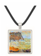 Stormy Sea (La Porte d'Aval) by Monet -  Museum Exhibit Pendant - Museum Company Photo