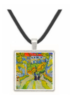 Street and road in Auvers by Van Gogh -  Museum Exhibit Pendant - Museum Company Photo