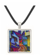 Street with a church in Kandern by Macke -  Museum Exhibit Pendant - Museum Company Photo