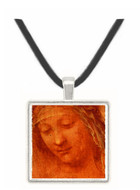 Study of a Womans Head - Leonardo da Vinci -  Museum Exhibit Pendant - Museum Company Photo