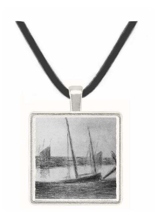 Study of boat and anchor by Seurat -  Museum Exhibit Pendant - Museum Company Photo