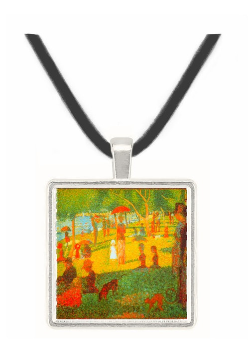 Sunday Afternoon by Seurat -  Museum Exhibit Pendant - Museum Company Photo