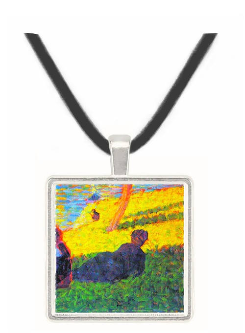 Sunday at the Grand Jatte, study 2 by Seurat -  Museum Exhibit Pendant - Museum Company Photo