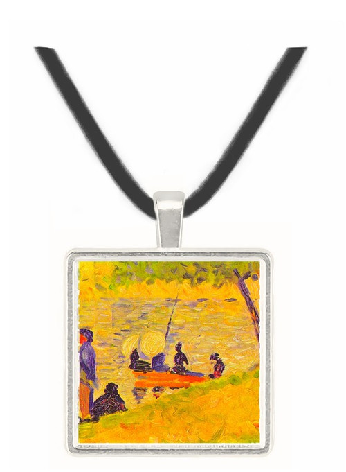 Sunday at the Grand Jatte, study by Seurat -  Museum Exhibit Pendant - Museum Company Photo