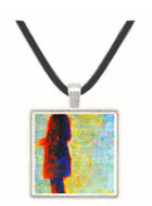Sunday at the Grand Jatte, study of a fisherman by Seurat -  Museum Exhibit Pendant - Museum Company Photo