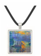 Sunrise at Sea by Monet -  Museum Exhibit Pendant - Museum Company Photo