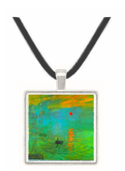 Sunrise by Monet -  Museum Exhibit Pendant - Museum Company Photo