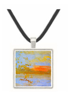 Sunset seen from a beach with breakwater by Joseph Mallord Turner -  Museum Exhibit Pendant - Museum Company Photo