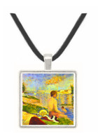 Swimming Pool by Seurat -  Museum Exhibit Pendant - Museum Company Photo