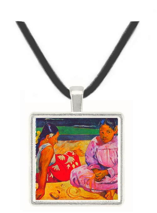 Tahitian Women on Beach by Gauguin -  Museum Exhibit Pendant - Museum Company Photo