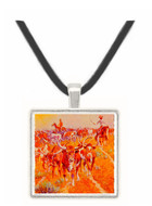 Texas Longhorns - Olaf C. Seltzer -  Museum Exhibit Pendant - Museum Company Photo