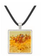 The Alarm - Charles M. Russell -  Museum Exhibit Pendant - Museum Company Photo