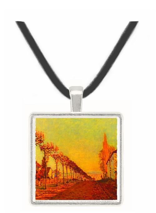 The Avenue - Alfred Sisley -  Museum Exhibit Pendant - Museum Company Photo