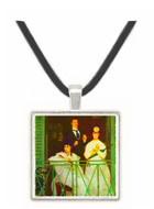 The Balcony by Manet -  Museum Exhibit Pendant - Museum Company Photo