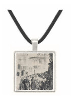 The Barricade by Manet -  Museum Exhibit Pendant - Museum Company Photo