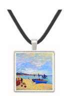 The Beach at Sainte Adresse #2 by Monet -  Museum Exhibit Pendant - Museum Company Photo