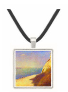 The beach in Honfleur by Seurat -  Museum Exhibit Pendant - Museum Company Photo