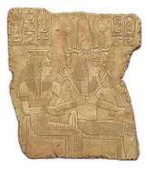 Coronation scene of Seti I - Temple of Abidos, Egypt. 19th. Dynasty, 1317 B.C. - Photo Museum Store Company