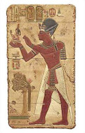 The offering of Maat, Painted - Temple of Abydos, Egypt - 1317 B.C. - Photo Museum Store Company