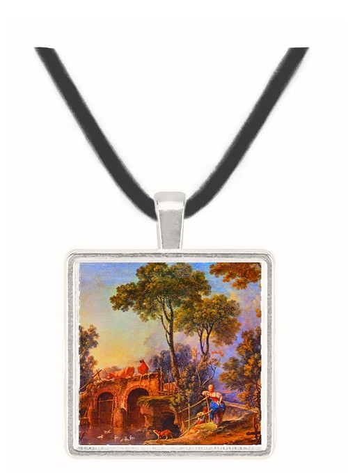 The Bridge - Francois Boucher -  Museum Exhibit Pendant - Museum Company Photo