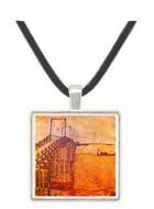 The Bridge by Schiele -  Museum Exhibit Pendant - Museum Company Photo