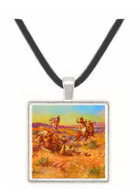 The Broken Rope - Charles M. Russell -  Museum Exhibit Pendant - Museum Company Photo