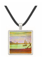 The canal at Gravelines by Seurat -  Museum Exhibit Pendant - Museum Company Photo
