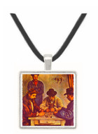 The Card Players - Paul Cezanne -  Museum Exhibit Pendant - Museum Company Photo