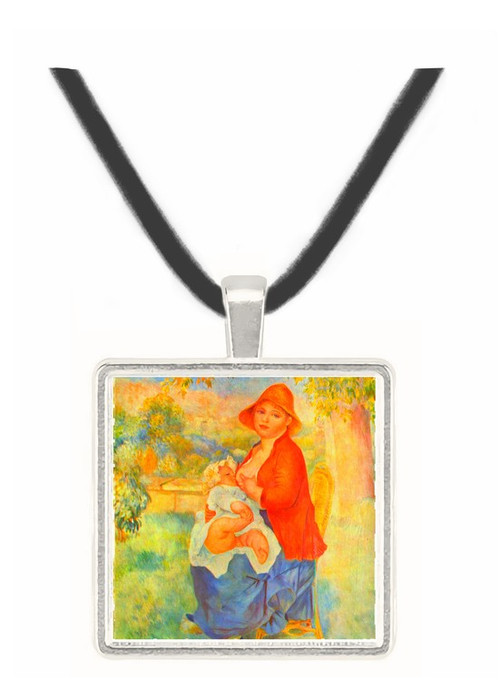 The child at the chest maternity by Renoir -  Museum Exhibit Pendant - Museum Company Photo