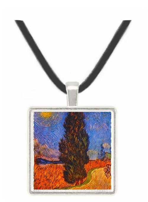 The Cypress Road - Vincent van Gogh -  Museum Exhibit Pendant - Museum Company Photo