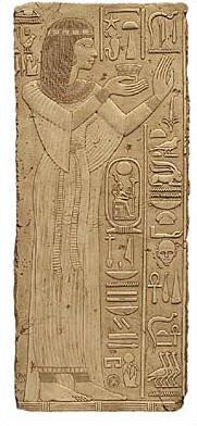 Egyptian Princess Relief - Temple of Abidos, Egypt. 19th. Dynasty 1317 B.C. - Photo Museum Store Company