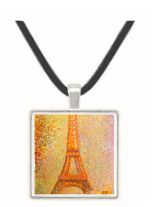 The Eiffel Tower by Seurat -  Museum Exhibit Pendant - Museum Company Photo